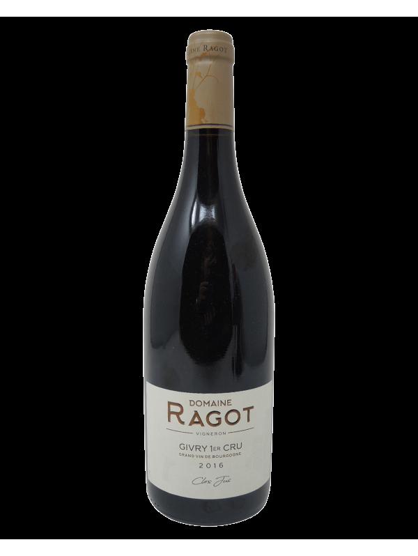 GIVRY 1ER CRU CLOS JUS - DOMAINE RAGOT - Vintage 2016