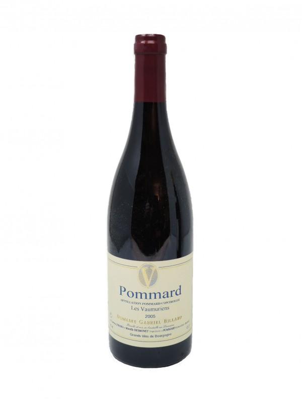 POMMARD LES VAUMURIENS - DOMAINE GABRIEL BILLARD - Vintage 2005