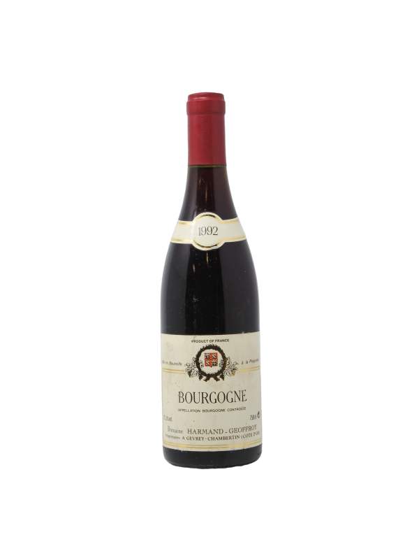 BOURGOGNE PINOT NOIR - DOMAINE HARMAND-GEOFFROY - Vintage 1992